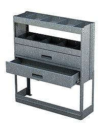 Two Drawer & Two Shelf Shelving System